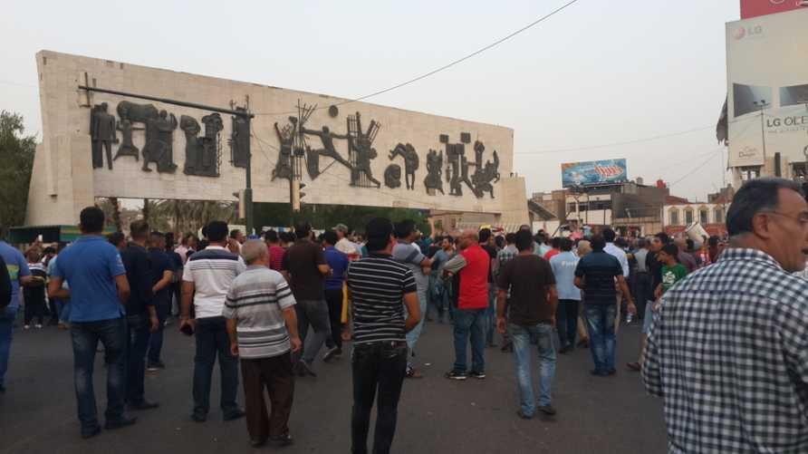 تجمعات في بغداد احتجاجا على أزمة الكهرباء