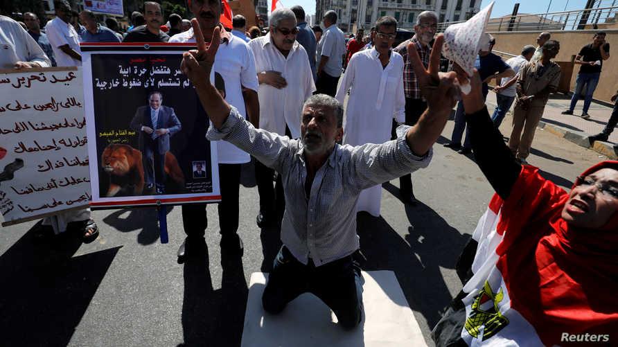 مظاهرات مؤيدة للرئيس المصري عبد الفتاح السيسي