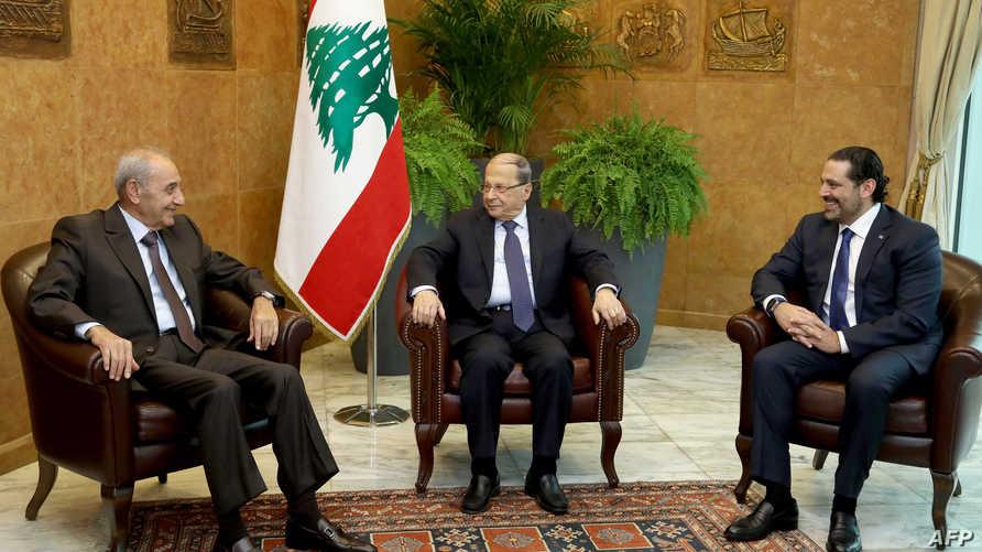 عون خلال لقاء مع رئيسي الحكومة والبرلمان