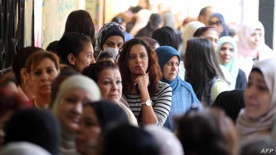 مصريات في أحد شوارع القاهرة