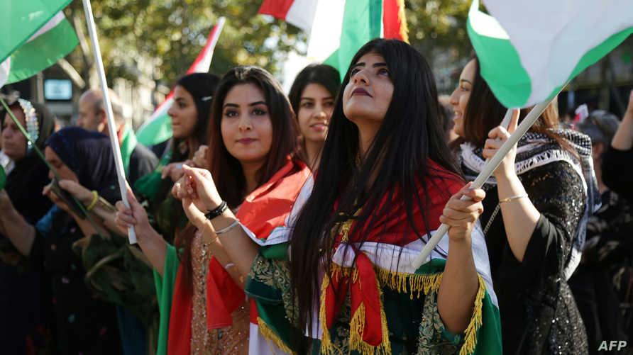 أكراد مؤيدون لاستفتاء إقليم كردستان في لقاء شعبي قبل الاستفتاء