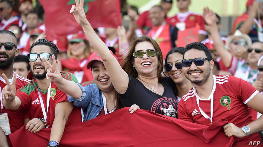 مغاربة يشجعون منتخب بلادهم في كأس أفريقيا