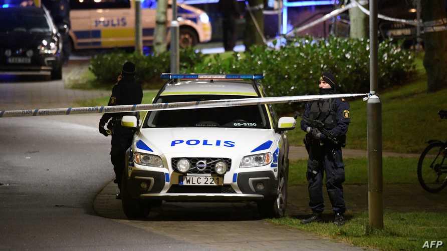 الشرطة السويدية تطوق منطقة في مالمو- أرشيف