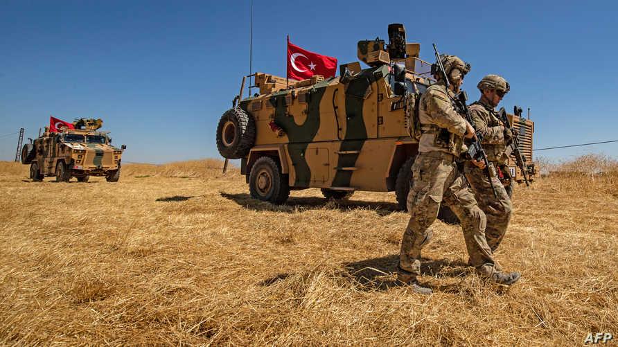 قوات أميركية وتركية في دورية مشتركة على الحدود السورية التركية