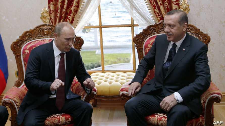 لقاء سابق بين بوتين وأردوغان