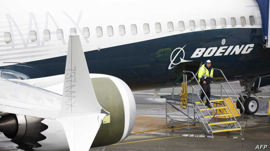 طائرة بوينغ 737 ماكس في مصنع الشركة برينتون في ولاية واشنطن