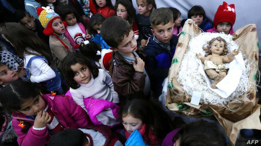 أطفال فروا من الحرب في الموصل
