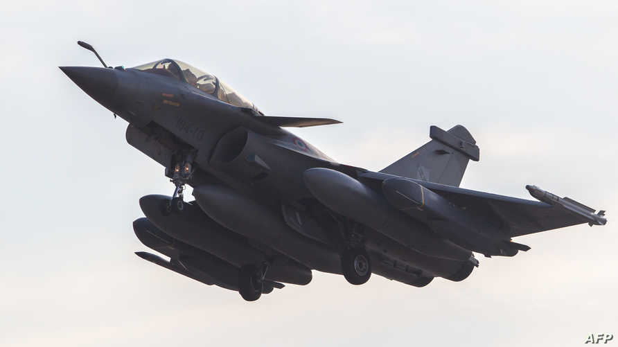 طائرة من طراز رافال مشاركة في الحملة ضد داعش