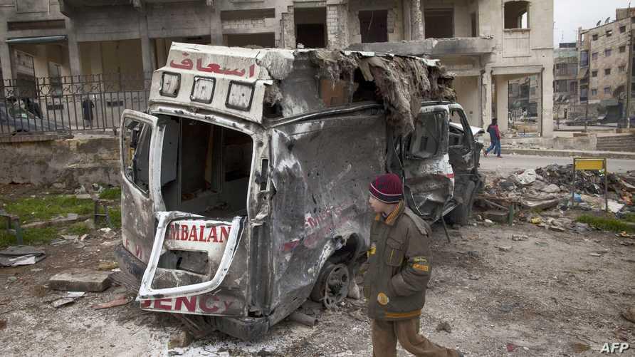 مخلفات قصف سابق للقوات النظامية