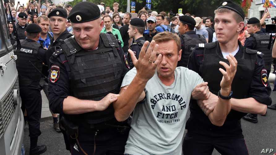 المعارض الروسي ألكسي نافالني يقضي حكما بالحبس مدته 30 يوما. أرشيفية