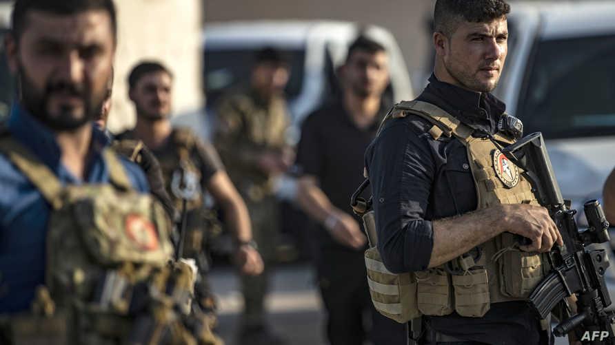 عناصر من قوات سوريا الديمقراطية - 10 أكتوبر 2019