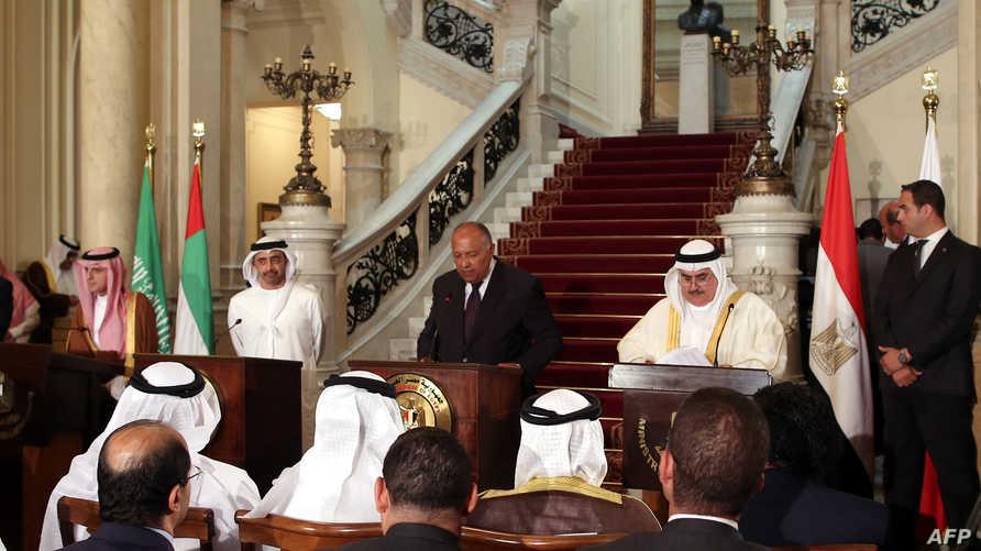 اجتماع سابق لوزراء خارجية الدول الأربع المقاطعة لقطر