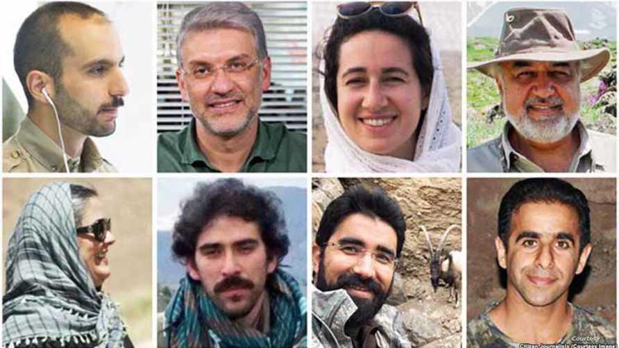 """نشطاء البيئة الإيرانيون المعتقليون بتهم """"التجسس"""""""