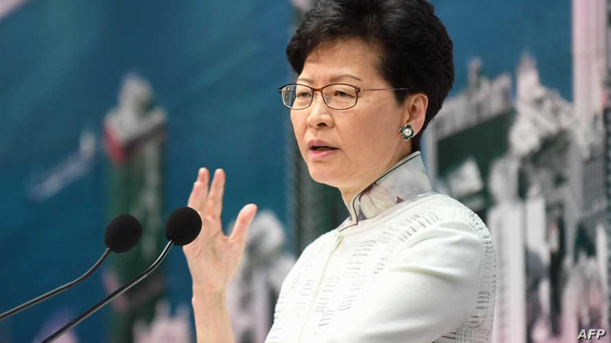 رئيسة السلطة التنفيذية لحكومة هونغ كونغ كاري لام