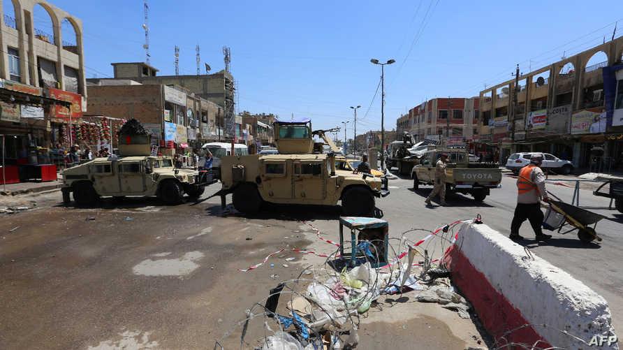 موقع أحد التفجيرات قرب بغداد