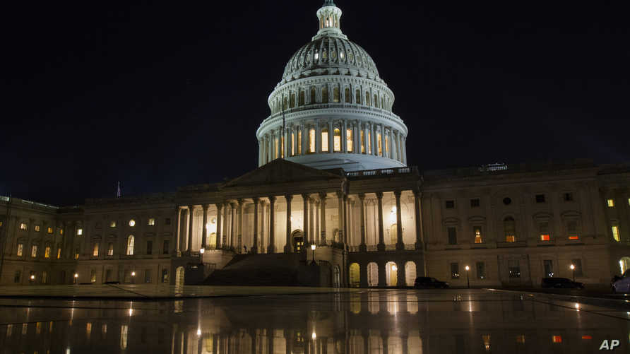 جانب من مبنى الكونغرس في واشنطن
