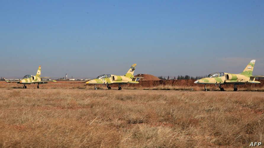 طائرات حربية سورية في حلب- أرشيف