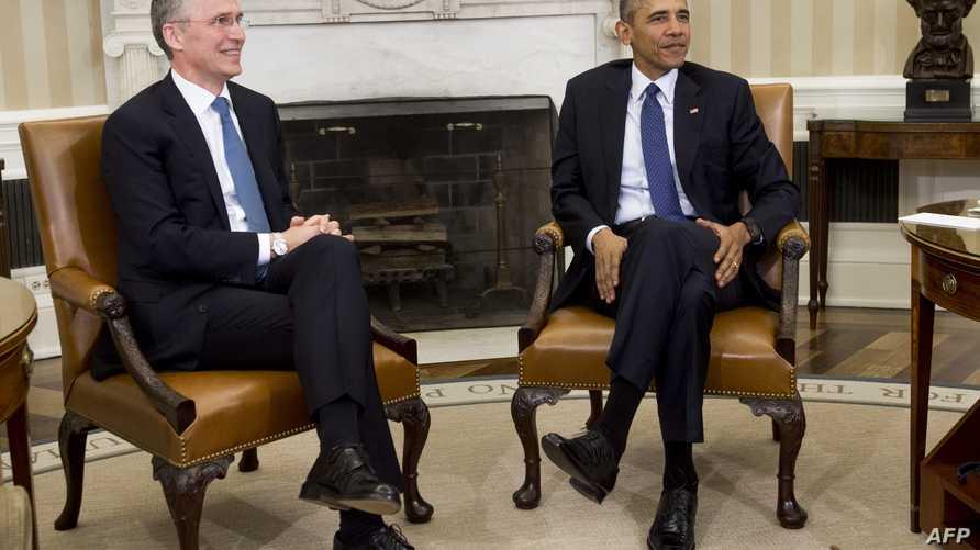 الرئيس أوباما والأمين العام لحلف شمال الأطلسي