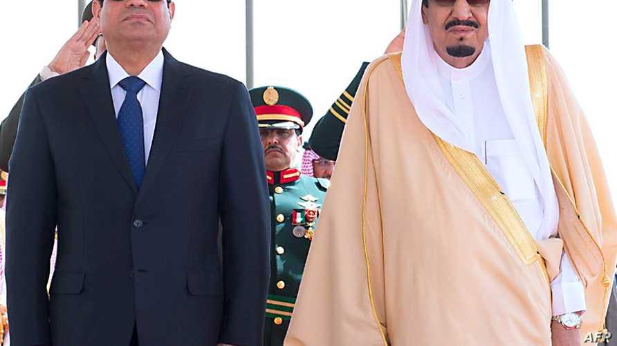 ملك السعودية سلمان بن عبد العزيز والرئيس المصري عبد الفتاح السيسي- أرشيف
