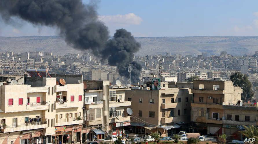 قصف تركي على مدينة عفرين