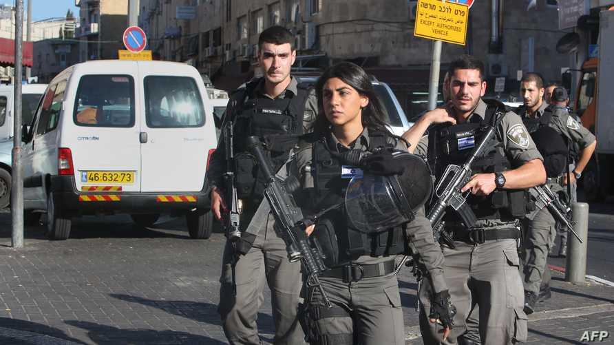عناصر في الشرطة الإسرائيلية في القدس