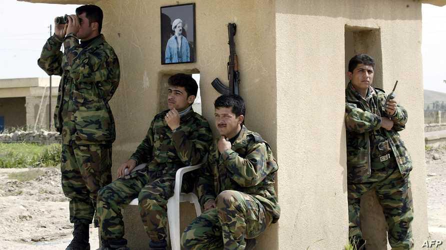 عناصر من قوات البيشمركة قرب الموصل -أرشيف