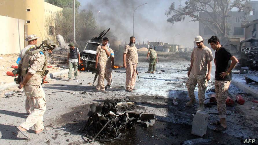 مقاتلون موالون لحكومة الوفاق في سرت