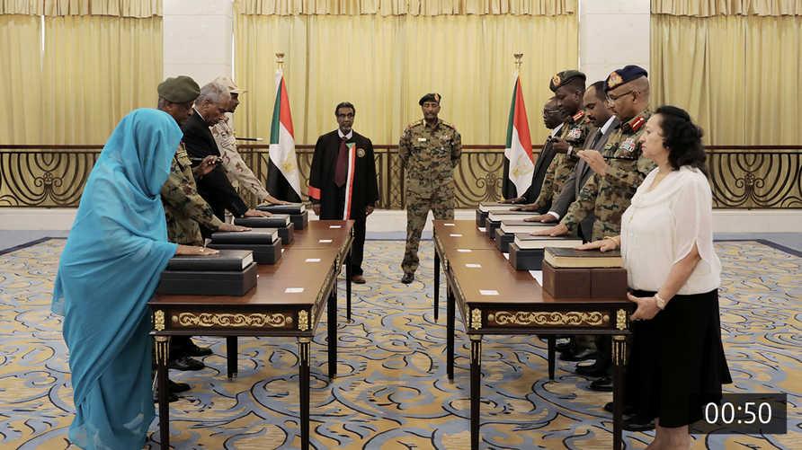 السودان أداء مجلس السيادة اليمين الدستورية