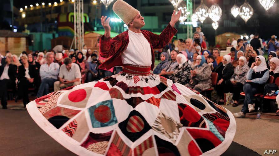 احتفالا بشهر رمضان في العاصمة اللبنانية بيروت