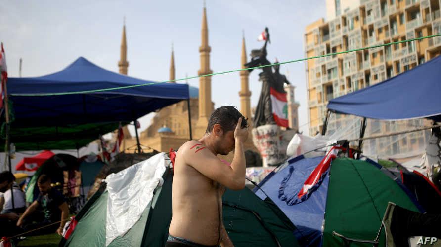 معتصمون وسط بيروت