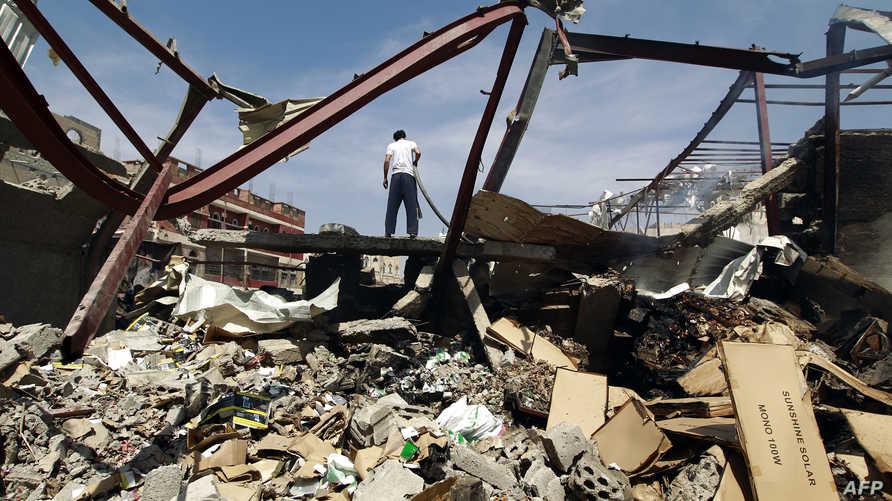 مخلفات غارات جوية قرب صنعاء