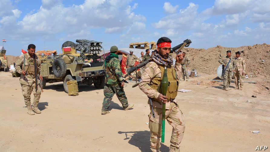 عناصر من القوات العراقية قرب ديالى