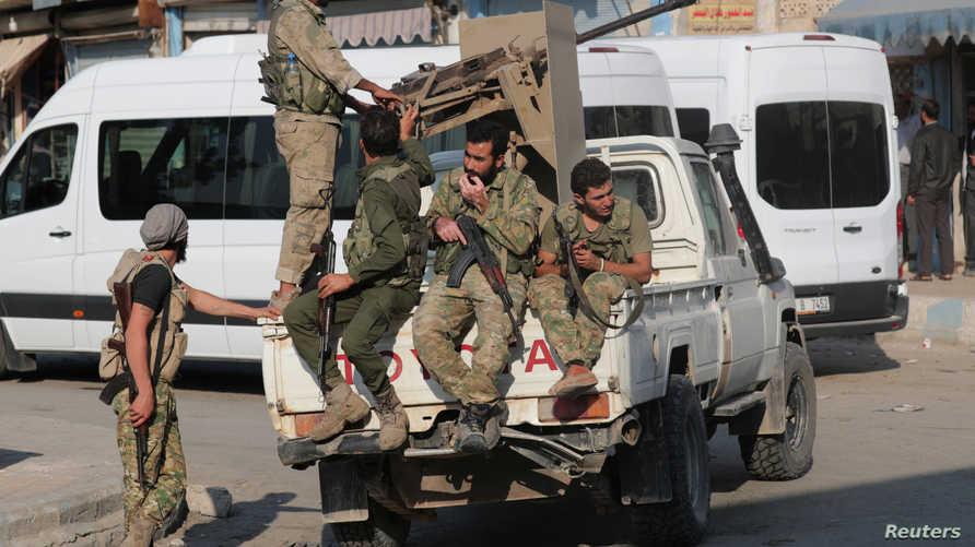 مسلحون سوريون موالون لأنقرة