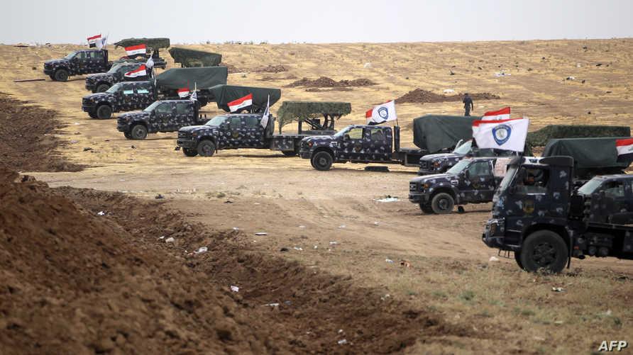 قوات عراقية قرب معبر فيشخابور