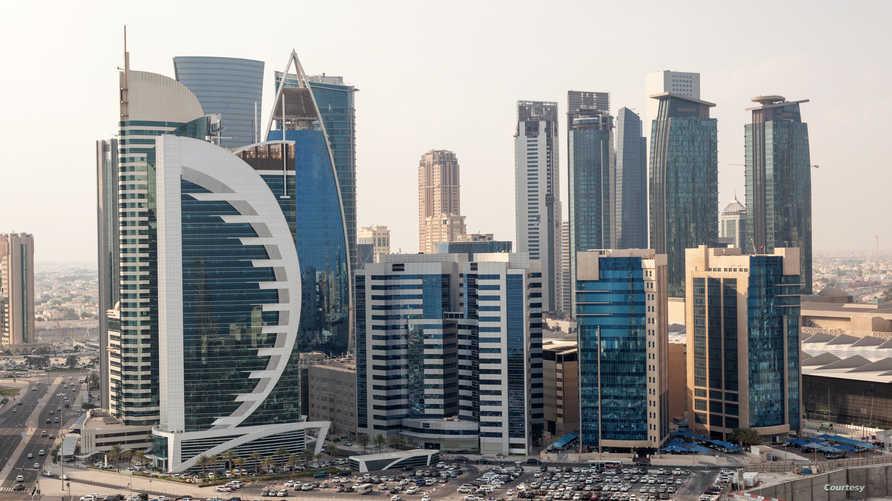 صورة عامة لوسط مدينة الدوحة