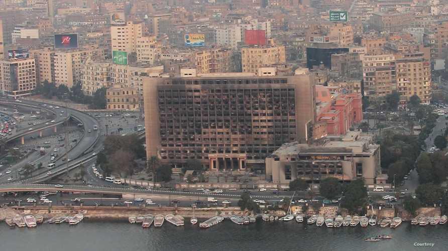 مقر الحزب الوطني الحاكم في مصر سابقا