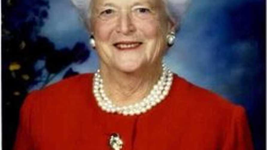 باربرا بوش - زوجة الرئيس الأسبق جورج بوش الأب