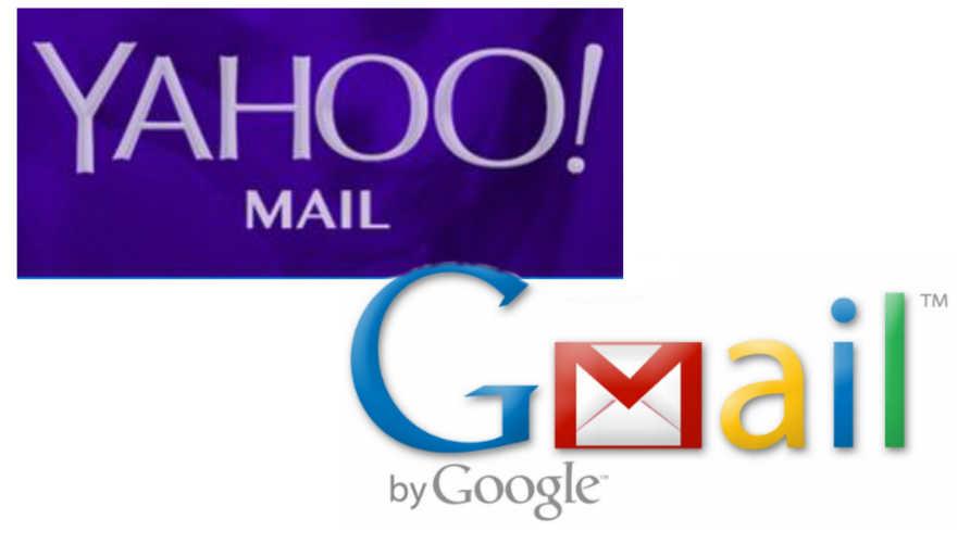 شعار البريد الإلكتروني لياهو وغوغل