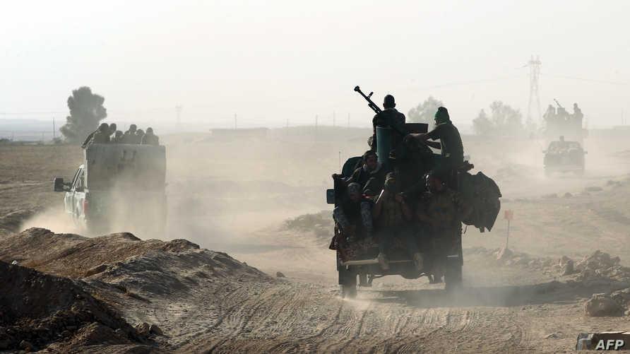 قوات عراقية قرب الموصل