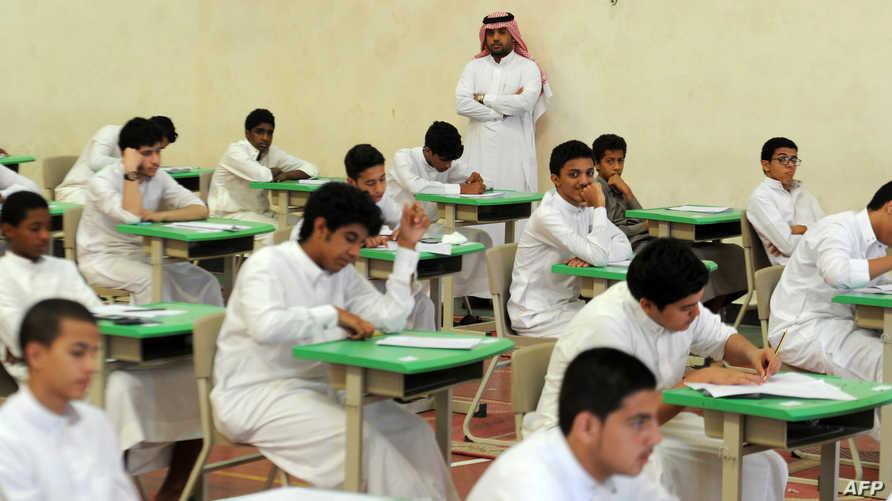 طلاب سعوديون في مدرسة بجدة