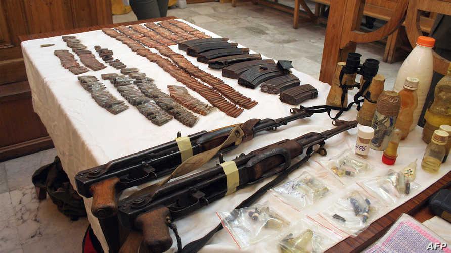 أسلحة صادرتها السلطات التونسية والجزائرية - أرشيف