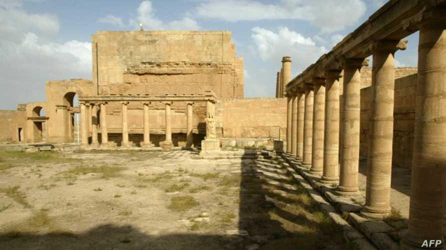 بعض آثار مدينة الحضر التاريخية شمال العراق
