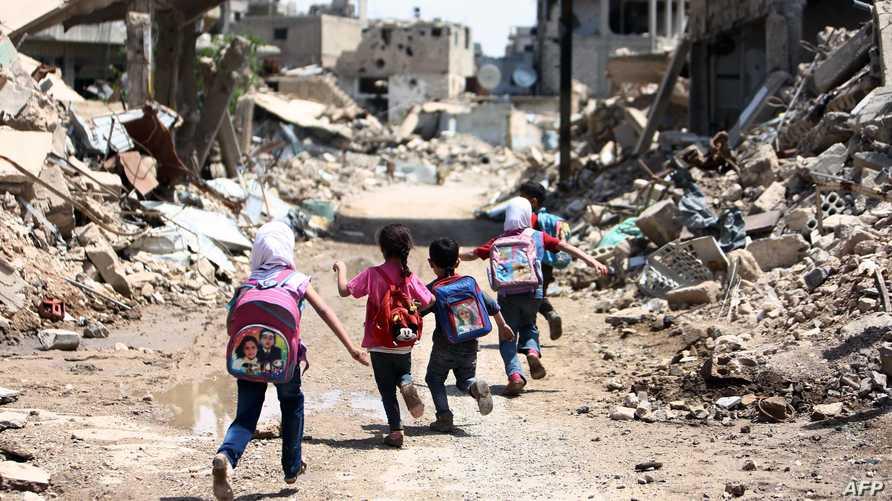 الأطفال ضحايا الحرب في سورية