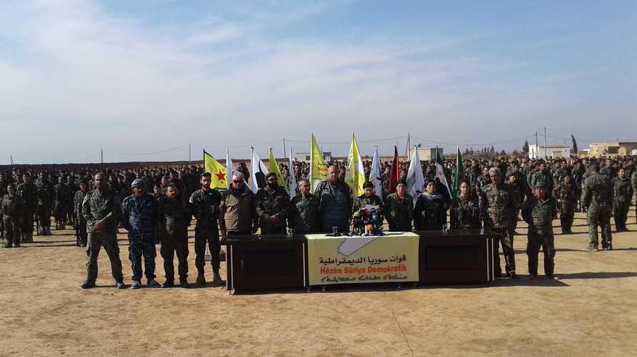 صورة مرفقة بإعلان القوات المرحلة الثالثة من تحرير الرقة (مأخوذة من صفحتها على فيسبوك)