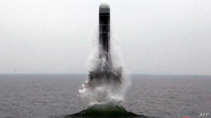صورة نشرتها وكالة الأنباء الكورية الشمالية للتجربة الصاروخية الأخيرة