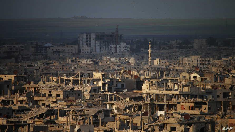 آثار الدمار في مدينة درعا في الجنوب السوري