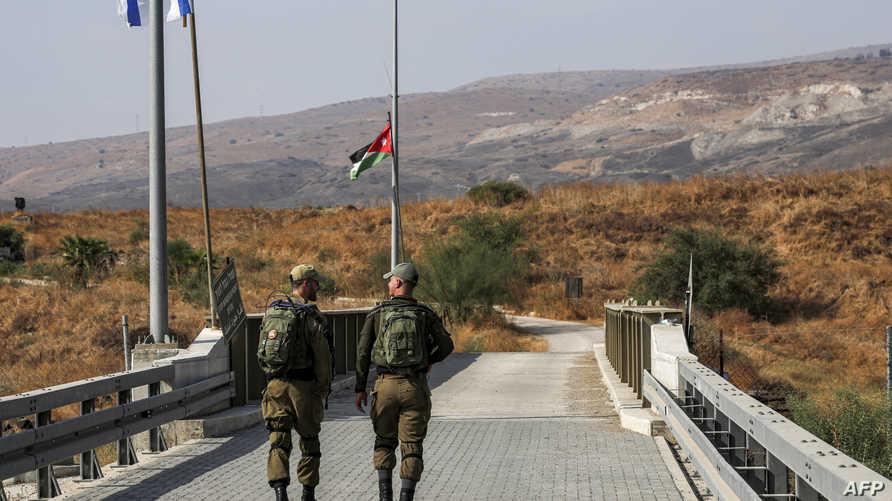 دورية إسرائيلية بالقرب من معبر نهاراييم أو الباقورة والغمر - 18 أكتوبر 2019