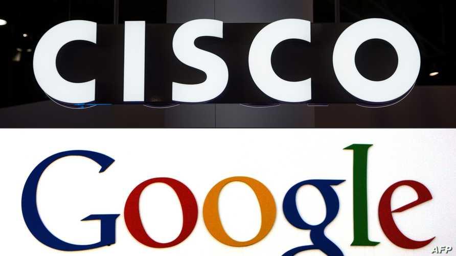 شعار كل من غوغل وسيسكو