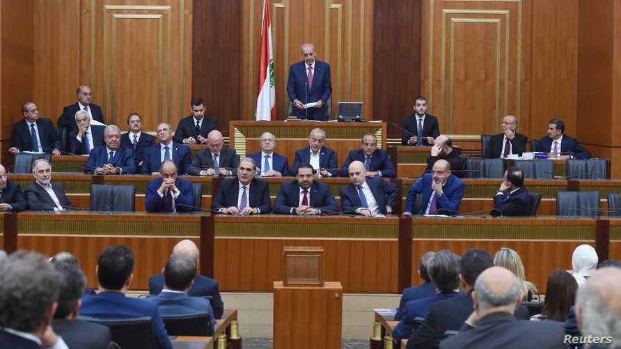 نبيه بري يتحدث أمام مجلس النواب اللبناني - 23 مايو 2019