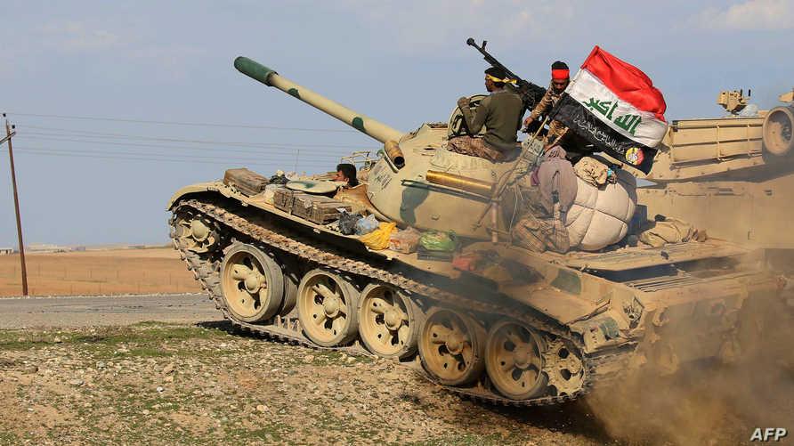 عناصر في القوات العراقية المشتركة في منطقة الموصل